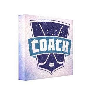 Diseño del escudo del coche de hockey lienzo envuelto para galerias
