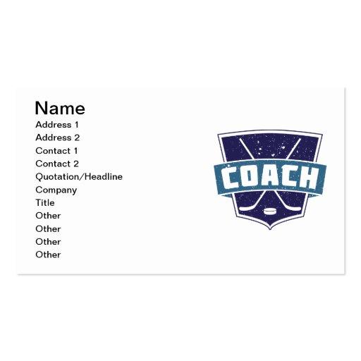 Diseño del escudo del coche de hockey tarjeta de visita