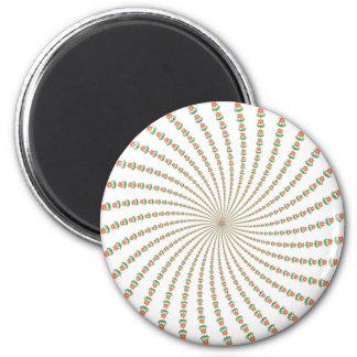 Diseño del espiral de la flor: Ilustraciones del v Imán Redondo 5 Cm