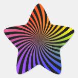 Diseño del espiral del arco iris: Pegatina de la e
