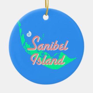 Diseño del esquema del mapa de la isla de Sanibel Adorno De Reyes