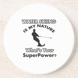 diseño del esquí acuático posavasos para bebidas