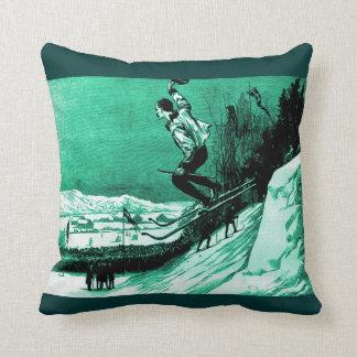 Diseño del esquí del vintage, el ganador de la raz almohada