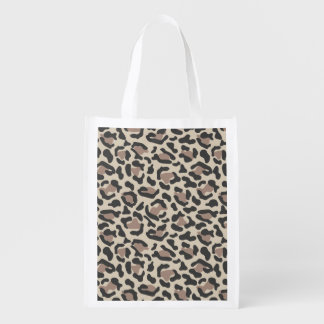 Diseño del estampado de animales bolsas para la compra