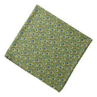 Diseño del estampado de animales del pavo real bandana