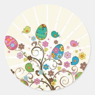 ¡Diseño del este hermoso de los huevos! Pegatina Redonda