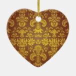 Diseño del estilo de Bali del batik Adorno Navideño De Cerámica En Forma De Corazón