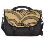 Diseño del estilo del art déco del color de Brown  Bolsas Para Ordenador