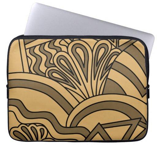 Diseño del estilo del art déco del color de Brown  Funda Portátil