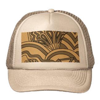 Diseño del estilo del art déco del color de Brown Gorras