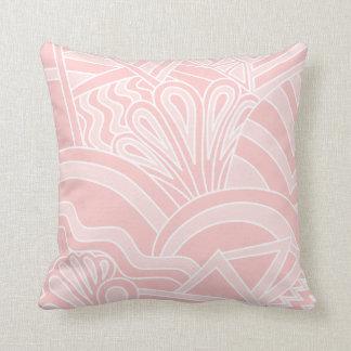 Diseño del estilo del art déco del rosa en colores cojín decorativo