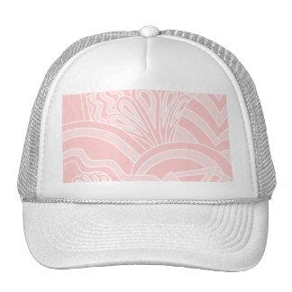 Diseño del estilo del art déco del rosa en colores gorras de camionero