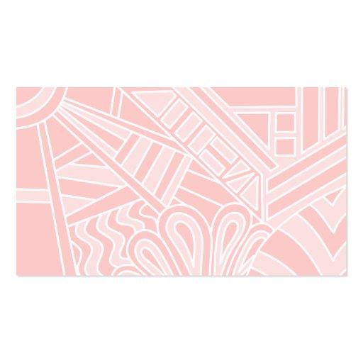 Diseño del estilo del art déco del rosa en colores tarjetas de visita
