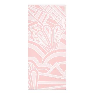 Diseño del estilo del art déco del rosa en colores tarjetas publicitarias a todo color