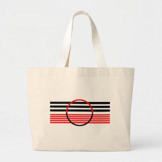 Diseño del estilo del art déco en el tote enorme bolsa tela grande