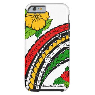 Diseño del estilo del hibisco y de la isla samoana funda de iPhone 6 tough