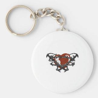 diseño del estilo del tatuaje del corazón llavero redondo tipo pin