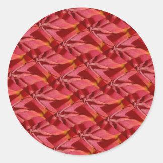 Diseño del extracto de Borgoña del rosa color de Pegatina Redonda