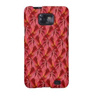 Diseño del extracto de Borgoña del rosa color de r Samsung Galaxy S2 Carcasas
