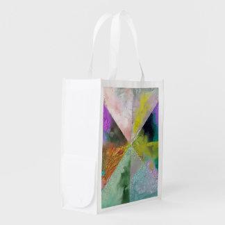 Diseño del extracto de la prisma bolsas reutilizables