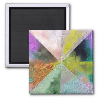 Diseño del extracto de la prisma imán cuadrado