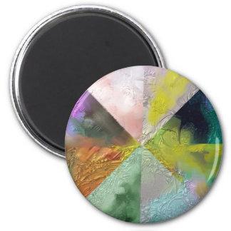 Diseño del extracto de la prisma imán redondo 5 cm