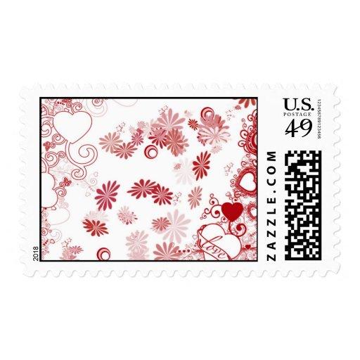 Diseño del extracto de la tarjeta del día de San Sellos