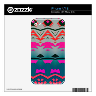 Diseño del extracto de las formas y de las ondas skins para eliPhone 4S