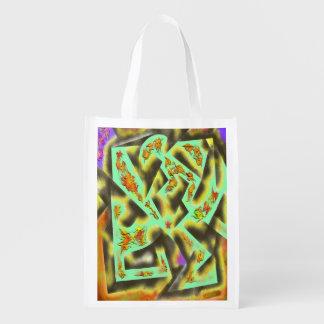Diseño del extracto de las hojas de otoño bolsa reutilizable