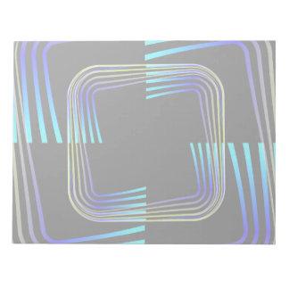 Diseño del extracto de los cuadrados bloc de notas