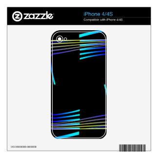 Diseño del extracto de los cuadrados calcomanía para iPhone 4