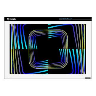 Diseño del extracto de los cuadrados portátil 43,2cm skins