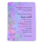 Diseño del extracto de Mitzvah del palo en púrpura Invitación Personalizada