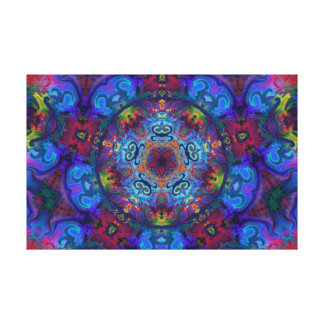 Diseño del extracto del arte de la mandala impresion de lienzo
