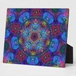 Diseño del extracto del arte de la mandala placas con fotos