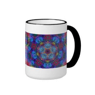 Diseño del extracto del arte de la mandala taza de dos colores