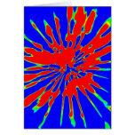 Diseño del extracto del chapoteo del rojo azul felicitacion