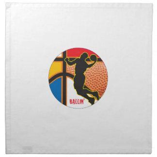 Diseño del extracto del deporte del baloncesto servilletas imprimidas