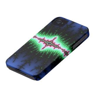 Diseño del extracto del fractal del UFO iPhone 4 Protectores