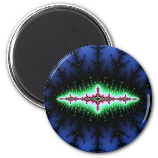 Diseño del extracto del fractal del UFO Imán De Frigorifico