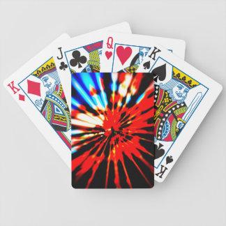 Diseño del extracto del modelo del chapoteo baraja cartas de poker