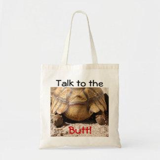 Diseño del extremo de la tortuga bolsas lienzo