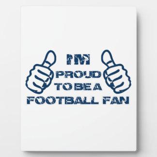 Diseño del fanático del fútbol placas con foto