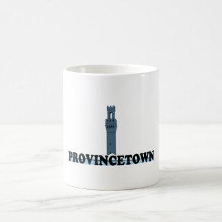 """Diseño del """"faro"""" de Provincetown Taza Básica Blanca"""