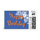 Diseño del feliz cumpleaños franqueo