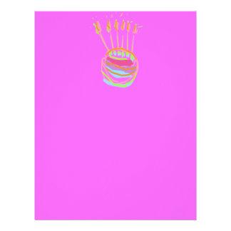 Diseño del feliz cumpleaños membrete a diseño