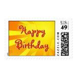 Diseño del feliz cumpleaños sello
