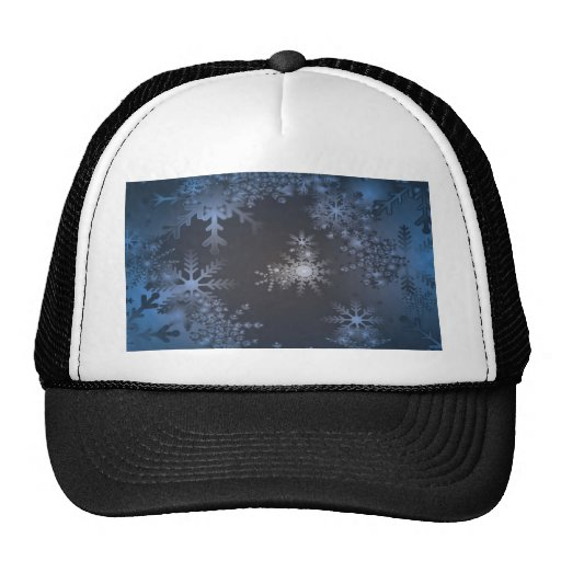Diseño del fondo de la nieve gorro