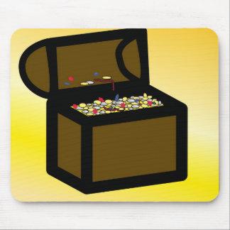 Diseño del fondo del cofre del tesoro alfombrilla de raton