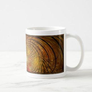 Diseño del fractal (Cygnus A, oro) en la taza de